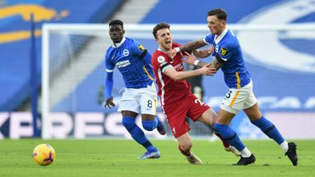Berikut adalah hasil pertandingan pekan ke-10 Liga Inggris yang mempertemukan Brighton Hove & Albion vs Liverpool yang berakhir dengan hasil imbang. - INDOSPORT