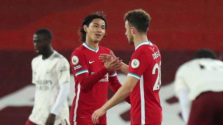 Diogo Jota tampil gemilang sejak diboyong Liverpool di bursa transfer musim panas lalu. Kecemerlangannya pun seolah menghalangi langkah Takumi Minamino. - INDOSPORT