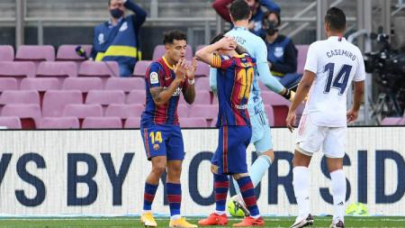 Lewatkan musim LaLiga Spanyol 2020-2021 membuat Philippe Coutinho berikan berkah bagi Barcelona. Sementara, Liverpool malah buntung gara-gara ini. - INDOSPORT