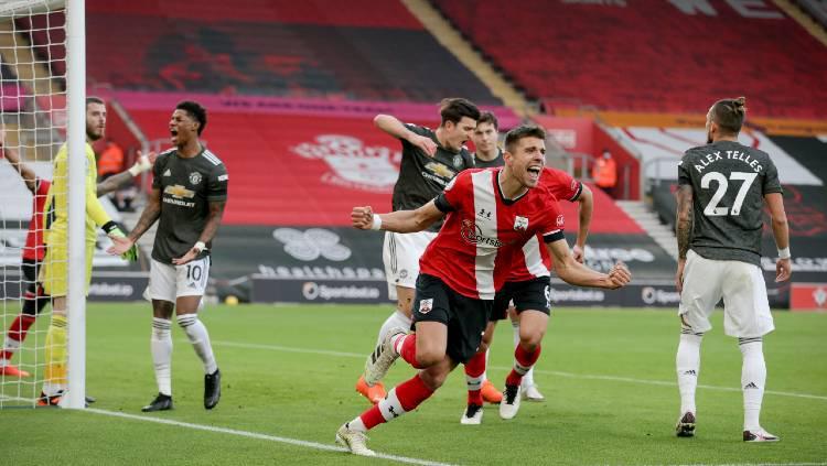 Hasil Pertandingan Liga Inggris Southampton Vs Man United: Cavani Inspirator Comeback Fantastis