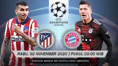 Indosport - Pertandingan Atletico Madrid vs Bayern Munchen (Liga Champions).
