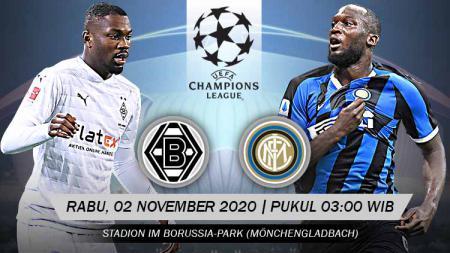 Pertandingan Borussia M'gladbach vs Inter Milan (Liga Champions). - INDOSPORT