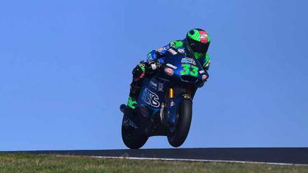 Pembalap Moto2 asal Italia, Enea Bastianini. - INDOSPORT