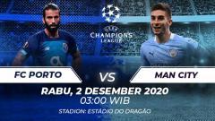 Indosport - Berikut link live streaming pertandingan Liga Champions Grup C yang akan mempertemukan Porto vs Manchester City.