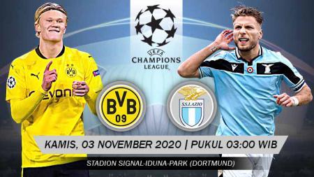 Pertandingan Borussia Dortmund vs Lazio (Liga Champions). - INDOSPORT