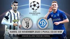 Indosport - Link Live Streaming Liga Champions: Juventus vs Dynamo Kyiv.