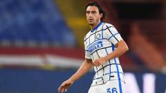 Indosport - Cetak gol di laga Inter Milan vs Borussia Monchengladbach, eks Man United, Matteo Darmian langsung sesumbar.