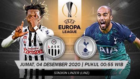 Pertandingan LASK Linz vs Tottenham Hotspur (Liga Europa). - INDOSPORT