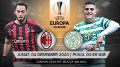 Indosport - Laga kelima Grup H Liga Europa akan mempertemukan antara AC Milan vs Celtic di San Siro, Jumat (04/12/20) dini hari WIB, berikut duel perlini kedua tim.