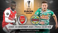 Indosport - Pertandingan Arsenal vs SK Rapid Vienne (Liga Europa).