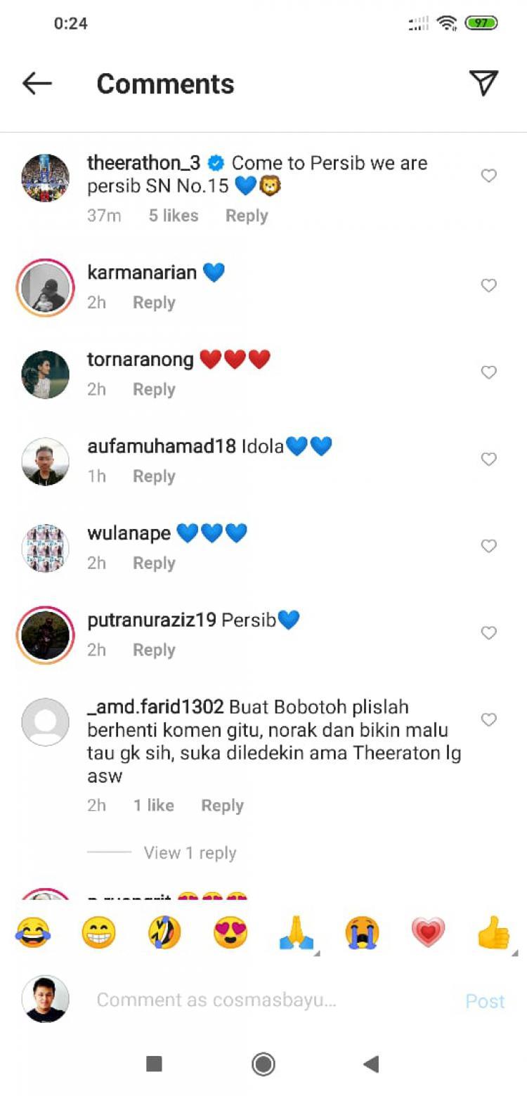 Netizen Indonesia meminta kepada fans sepak bola Tanah Air tidak berlebihan Copyright: instagram.com/suchino8