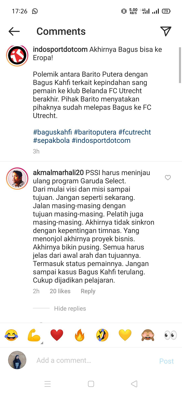 Pengamat sepak bola Akmal Marhali, turut memberikan kritik pedas untuk program Garuda Select. Copyright: Instagram