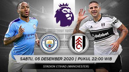 Pertandingan Manchester City vs Fulham (Liga Inggris). - INDOSPORT