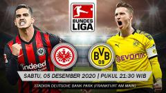 Indosport - Berikut prediksi pertandingan Eintracht Frankfurt vs Borussia Dortmund di ajang Bundesliga Jerman pekan ke-10, Sabtu (5/12/2020) pukul 21.30 WIB.