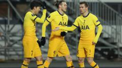 Indosport - Selebrasi Son Heung-min dalam laga LASK vs Tottenham Hotspur