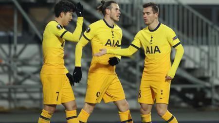 Selebrasi Son Heung-min dalam laga LASK vs Tottenham Hotspur - INDOSPORT