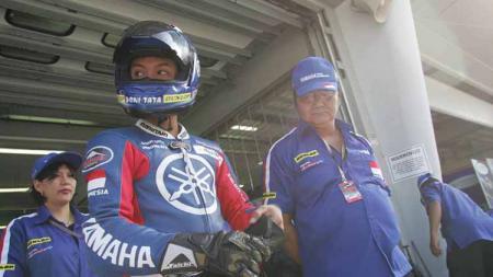 Pembalap Indonesia, Doni Tata Pradita, mendapatkan fasilitas wild card pada balapan GP125 2005 di Sirkuit Sepang, Malaysia. - INDOSPORT
