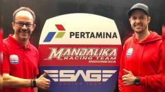 Indosport - Mandalika Racing Team Indonesia (MRTI) dan SAG Racing Team resmi jalin kerja sama untuk turun di Moto2