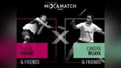 Indosport - Inilah hasil draft tim Taufik Hidayat vs Candra Wijaya di turnamen ekshibisi The Legend's Vision MIX & MATCH, dimana Kevin Sanjaya dan Marcus Gideon berhadapan.