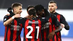 Indosport - Para pemain AC Milan berselebrasi usai mencetak gol ke gawang Sampdoria