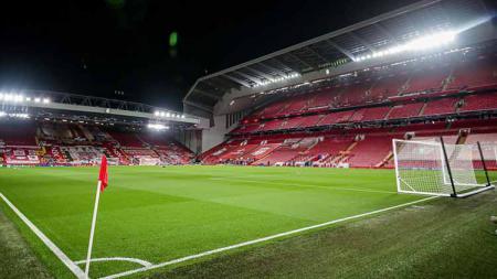 Dulu menjadi benteng kokoh, kini Stadion Anfield menjelma menjadi kuburan baru bagi tim Liverpool di Liga Inggris. - INDOSPORT