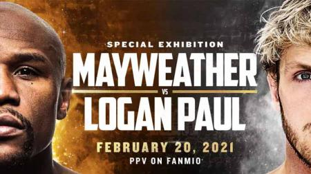 Floyd Mayweather Jr vs Logan Paul. - INDOSPORT