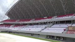 Indosport - Tampilan baru Stadion Gelora Sriwijaya Jakabaring Palembang.