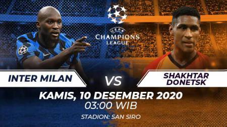 Link Live Streaming Liga Champions antara Inter Milan vs Shakhtar Donetsk. - INDOSPORT