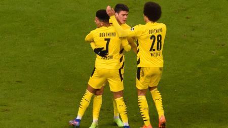 Borussia Dortmund sukses ungguli Zenit St. Petersburg pada matchday akhir babak grup Liga Champions lewat comeback efek hadirnya Jadon Sancho. - INDOSPORT