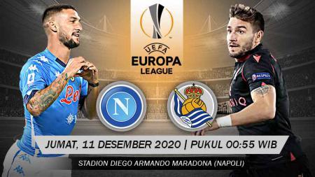 Berikut tersaji prediksi pertandingan Grup F Liga Europa 2020-2021 antara Napoli vs Real Sociedad yang akan berlangsung di Stadion Diego Armando Maradona. - INDOSPORT