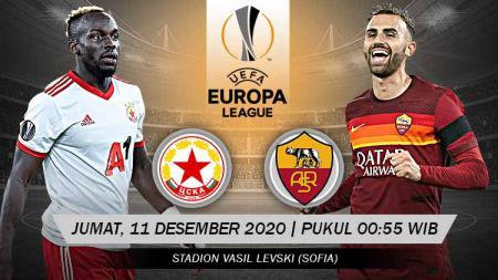 Berikut prediksi pertandingan terakhir di fase Grup A Liga Europa musim 2020-2021 antara tuan rumah CSKA Sofia vs AS Roma. - INDOSPORT