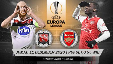 Pertandingan Dundalk FC vs Arsenal (Liga Europa). - INDOSPORT