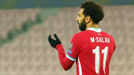 Mohamed Salah dalam laga Midtjylland vs Liverpool - INDOSPORT