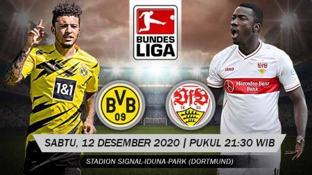 Berikut tersaji prediksi pertandingan Bundesliga Jerman 2020-2021 antara Borussia Dortmund vs VfB Stuttgart yang akan berlangsung di Signal Iduna Park. - INDOSPORT