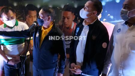 Menpora Zainuddin Amali dan Ketua Umum PSSI Mochamad Iriawan hadir dalam acara Youth Fun Juggling Competition. - INDOSPORT