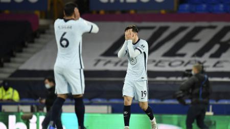 Kalah 0-1 dari Everton di Liga Inggris lewat penalti berkat blunder Edouard Mendy, Chelsea pun memperpanjang rekor buruk saat bertandang ke markas The Toffees. - INDOSPORT