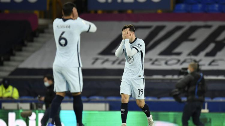 Ekspresi frustrasi pemain Chelsea usai kalah dari Everton Copyright: Peter Powell/PA Images via Getty Images