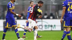 Indosport - Theo Hernandez selebrasi usai mencetak gol di laga AC Milan vs Parma