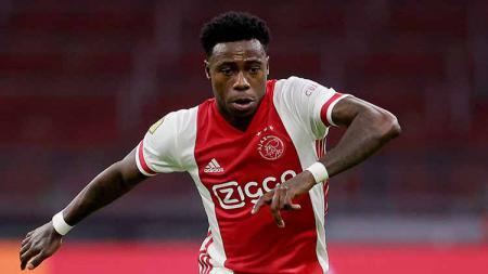 Punggawa Timnas Belanda yang juga merupakan bintang Ajax Amsterdam, Quincy Promes dikabarkan baru saja ditangkap oleh pihak kepolisian Belanda. - INDOSPORT