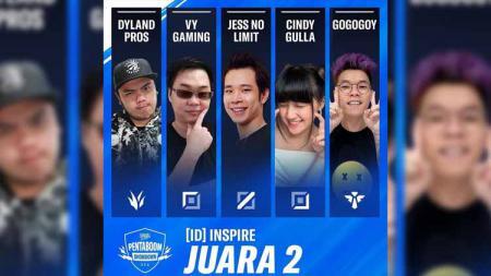 Sejumlah influencer game asal Indonesia, termasuk Jess No Limit, baru saja meraih juara kedua di ajang Pentaboom Showdown. - INDOSPORT
