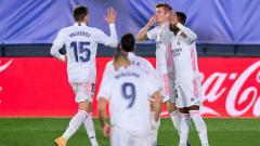 Indosport - Selebrasi gol Toni Kroos di laga Real Madrid vs Athletic Bilbao.