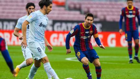 Berikut daftar top skor LaLiga Spanyol musim 2020-2021 hari ini, di mana mega bintang Barcelona, Lionel Messi, berhasil melejit ke puncak. - INDOSPORT