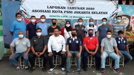Askot PSSI Jakarta Selatan menggelar rapat tahunan 2020, Sabtu (19/12/20). - INDOSPORT