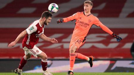 Arsenal kembali merasakan kekalahan meski mereka bermain di kandangnya sendiri pada babak perempatfinal Piala Liga Inggris. - INDOSPORT