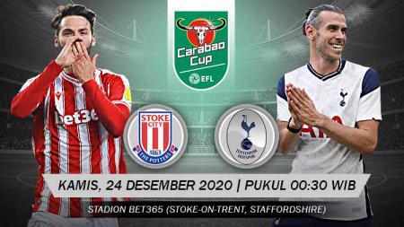 Link Live Streaming Carabao Cup: Stoke City vs Tottenham Hotspur. - INDOSPORT
