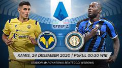 Indosport - Pertandingan Hellas Verona vs Inter Milan (Serie A).