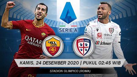 Link Live Streaming Pertandingan AS Roma vs Cagliari (Serie A). - INDOSPORT