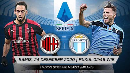 Link Live Streaming Pertandingan AC Milan vs Lazio (Serie A). - INDOSPORT