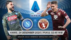 Indosport - Berikut prediksi pertandingan Napoli vs Torino di ajang Serie A Italia giornata ke-14, Kamis (24/12/2020) pukul 02.45 WIB di San Paolo.