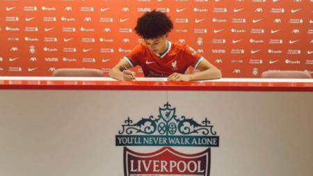 Pemain baru Liverpool, Calum Scanlon. - INDOSPORT